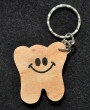 Wooden Tooth Keychain