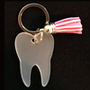 Lilly - Clear Tooth Keychain