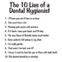 10 Lies of a Dental Hygienist Hooded Sweatshirt