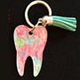 Lilly - Pattern 1 Tooth Keychain
