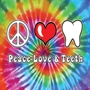 Peace Love & Teeth - Tie-Dye