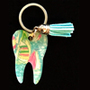 Lilly - Sailboats Tooth Keychain
