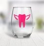 Plastic Wine Glass - Tooth with Wings